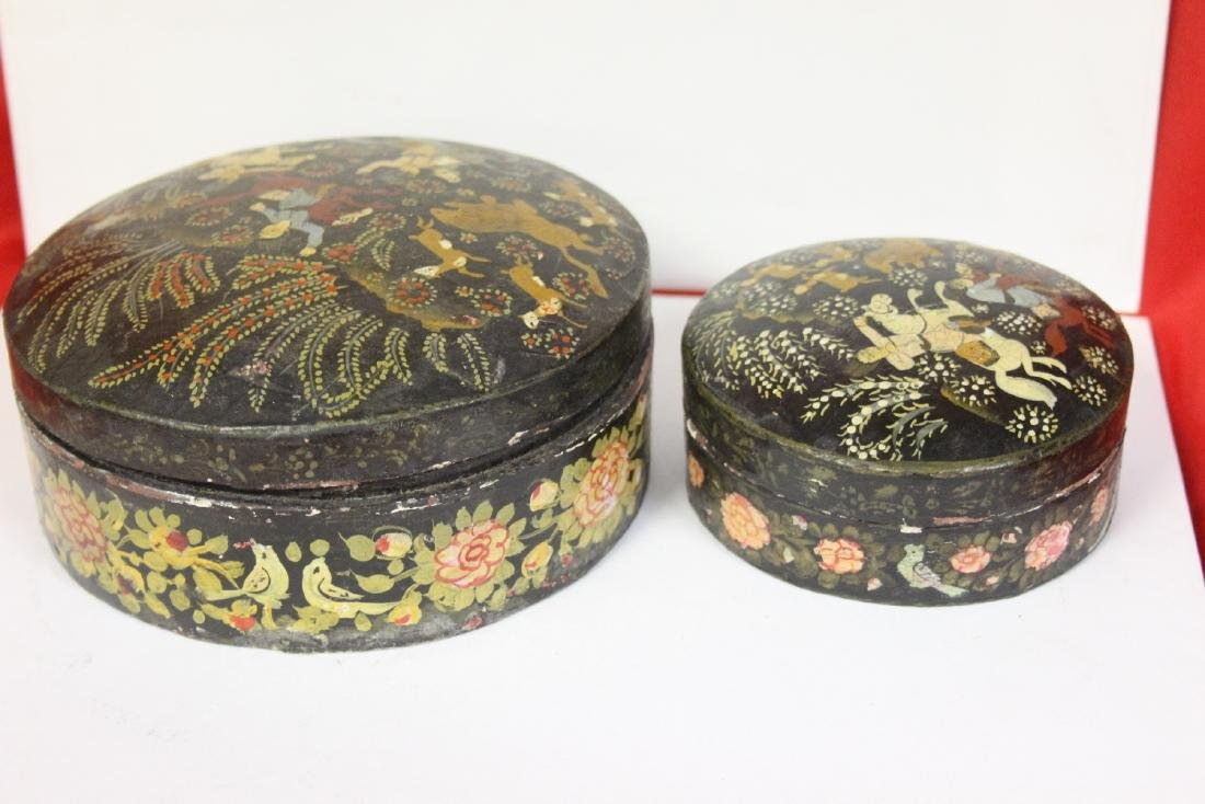 A Set of Two Oriental Lacquer Box