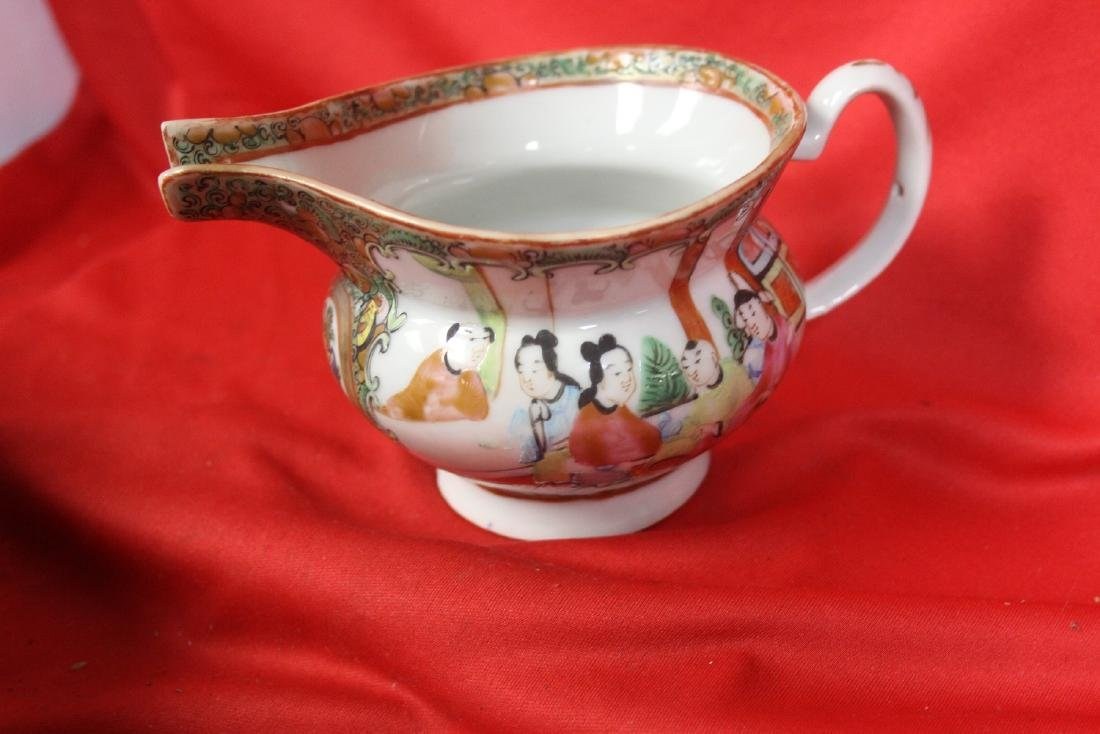 An Antique Chinese Rose Medallion Creamer - 2