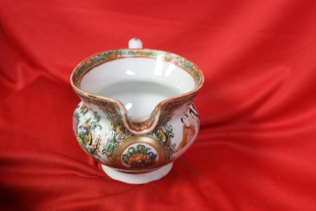 An Antique Chinese Rose Medallion Creamer - 3