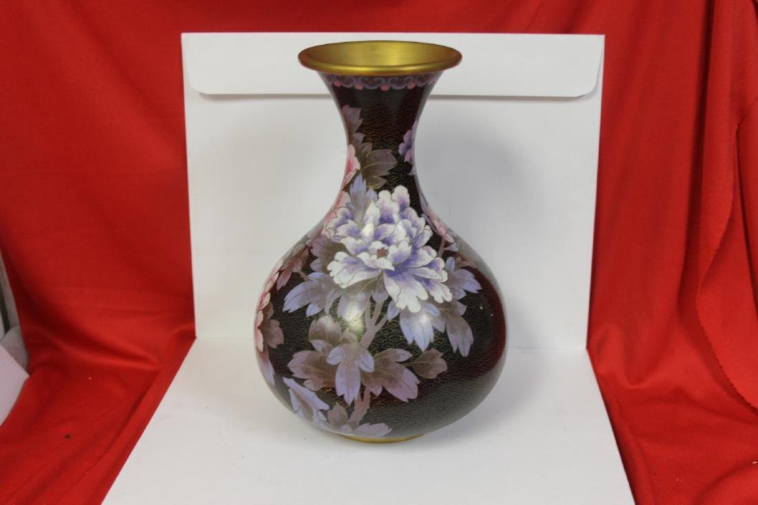 A Chinese Cloisonne Gourd Vase