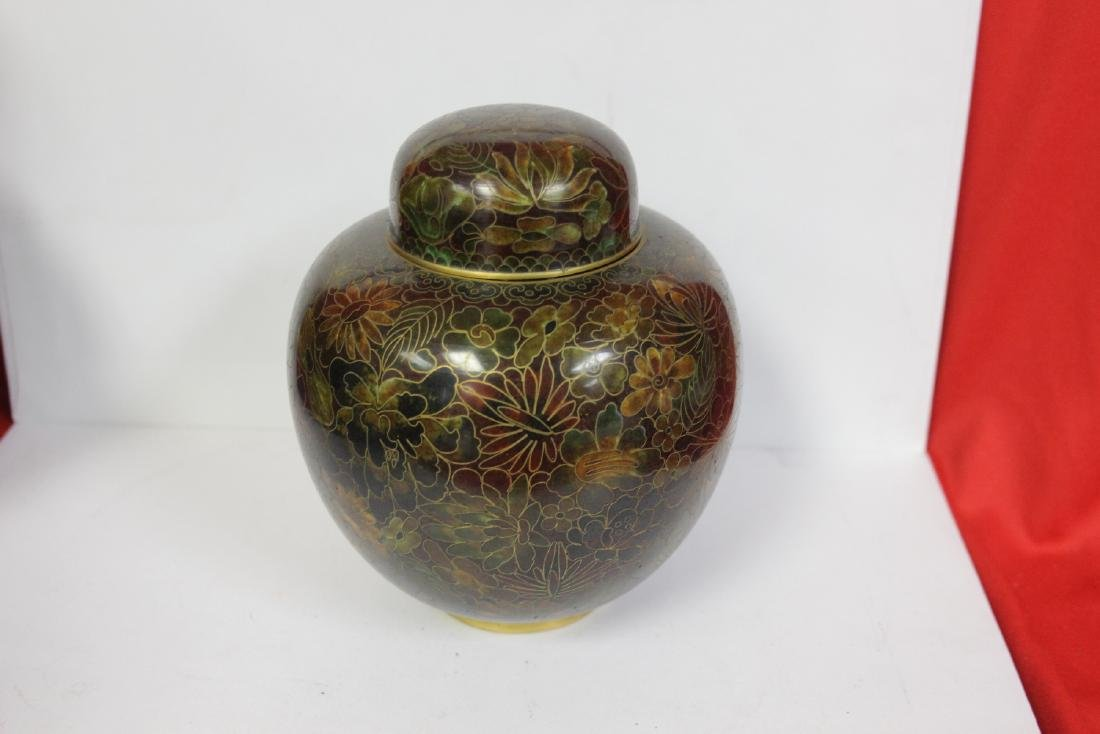 A Cloisonne Ginger Jar