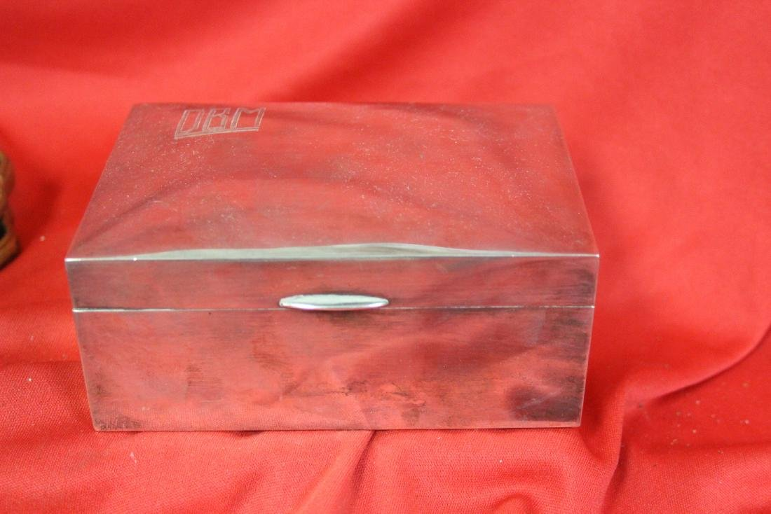 A Signed Tai Hua Chinese Export Sterling Silver Box