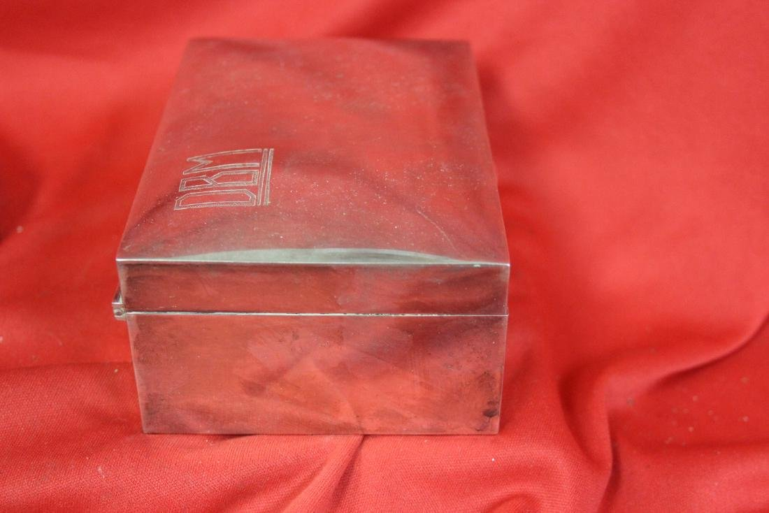 A Signed Tai Hua Chinese Export Sterling Silver Box - 2