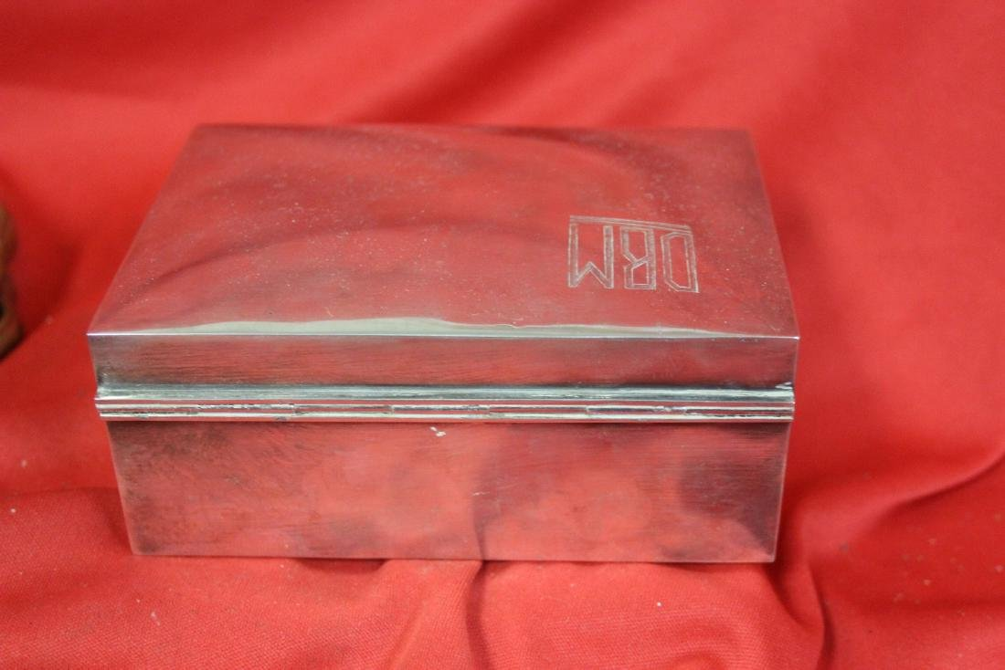 A Signed Tai Hua Chinese Export Sterling Silver Box - 3