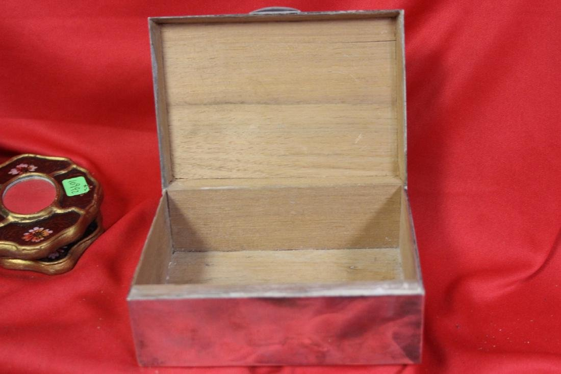 A Signed Tai Hua Chinese Export Sterling Silver Box - 8