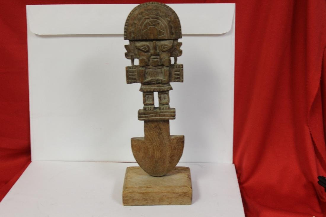 A Two Part Wood Statue - 3