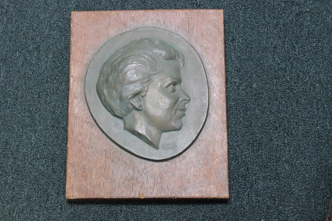 A Vintage Randolph Johnston Bronze on Wooden Plaque