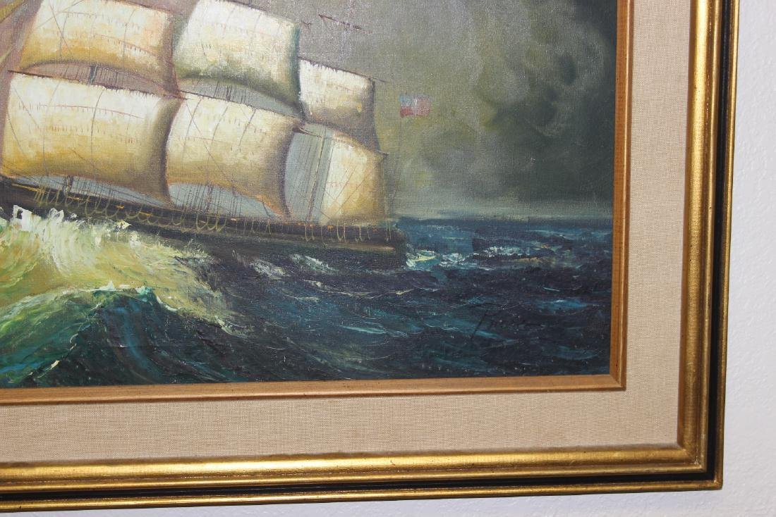 An Oil on Canvas of a Clipper Ship - 2