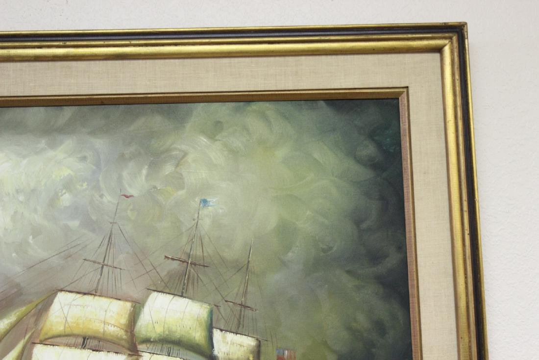 An Oil on Canvas of a Clipper Ship - 3