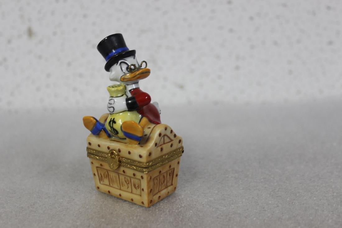 A Limoge, France Scrooge McDuck Trinket Box