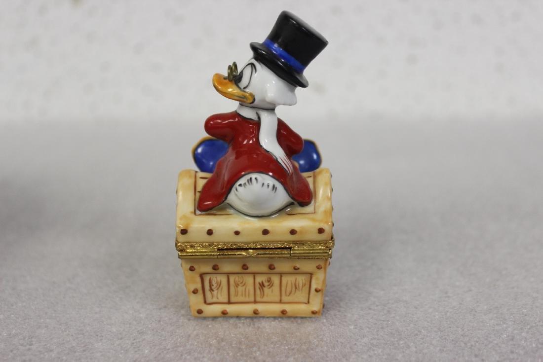 A Limoge, France Scrooge McDuck Trinket Box - 2