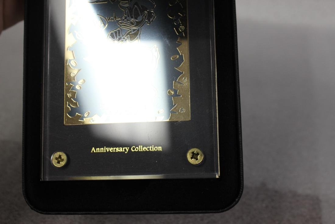 A Walt Disney Celebrates Scrooge 24Kt Gold Collectable - 3