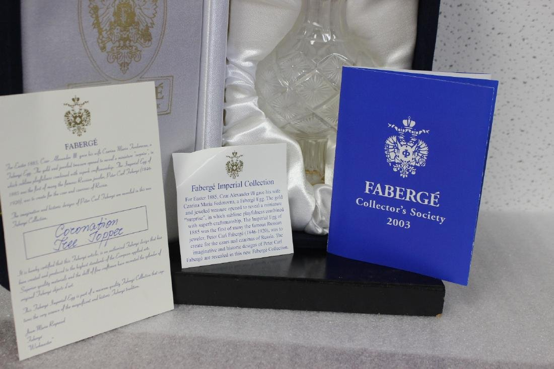 A Faberge Glass Coronation Tree Topper - 9