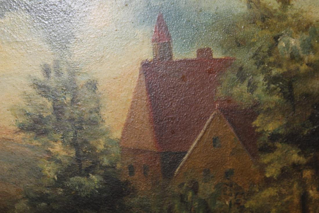 An Oil on Board Painting - 4