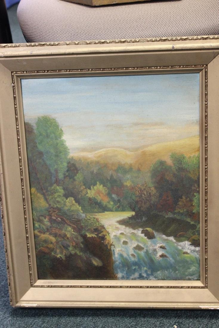 An Antique Oil on Board Painting