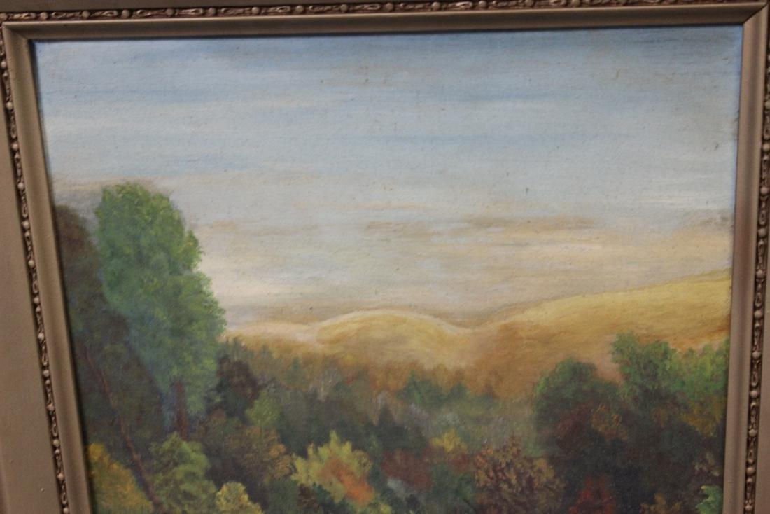 An Antique Oil on Board Painting - 2