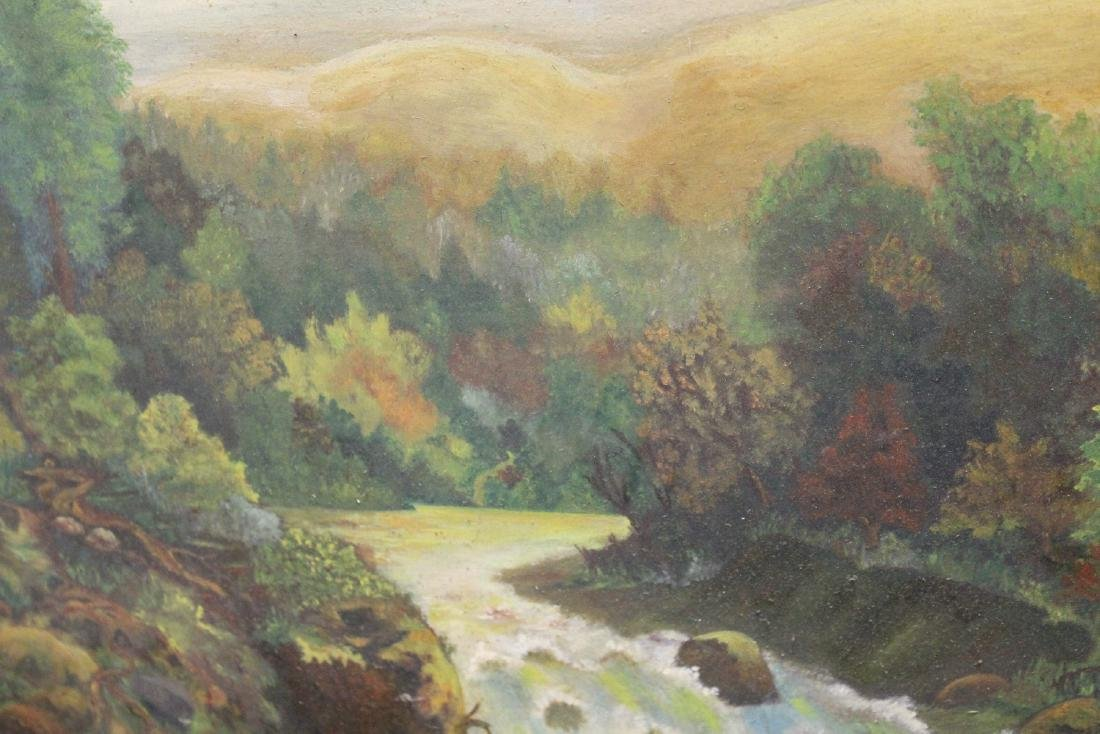 An Antique Oil on Board Painting - 3