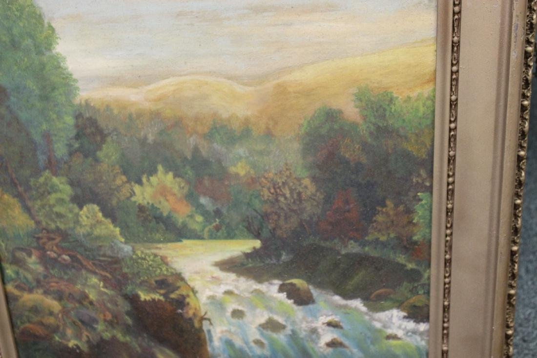 An Antique Oil on Board Painting - 5
