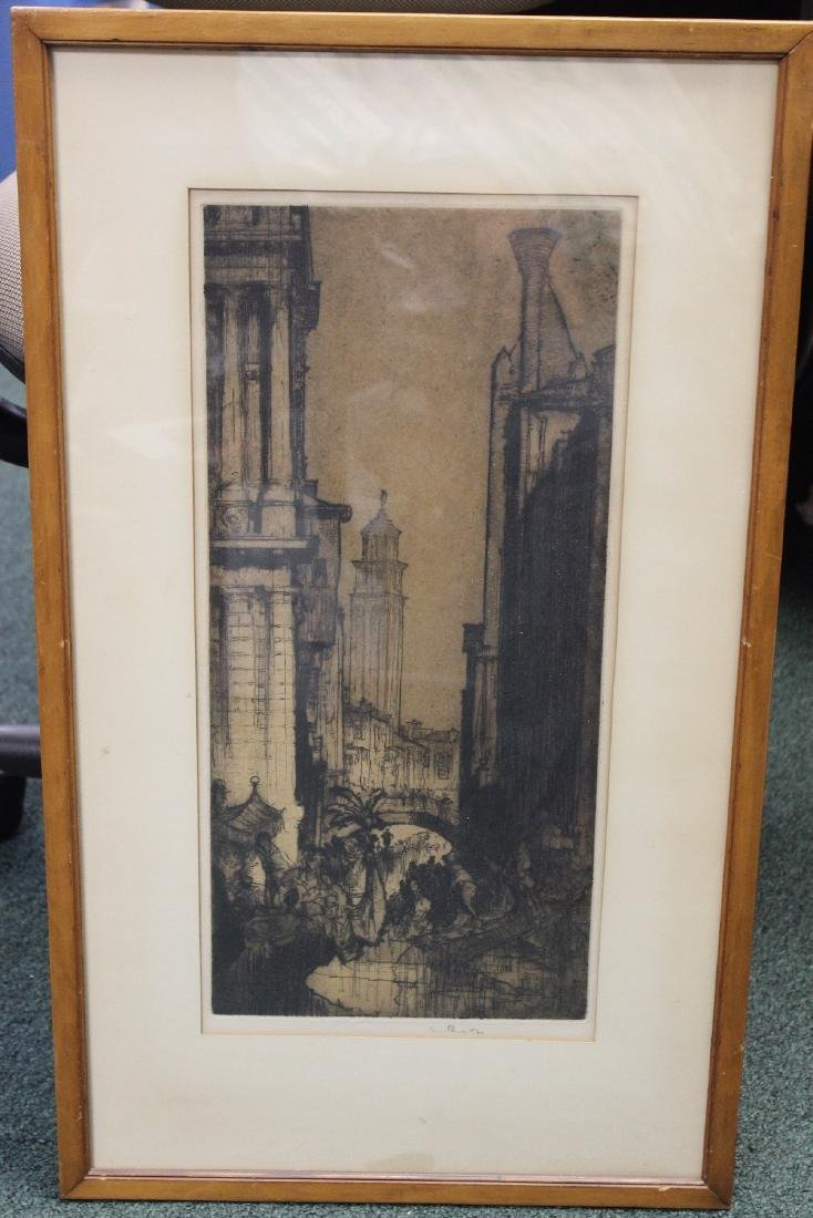 An Antique Signed Etching
