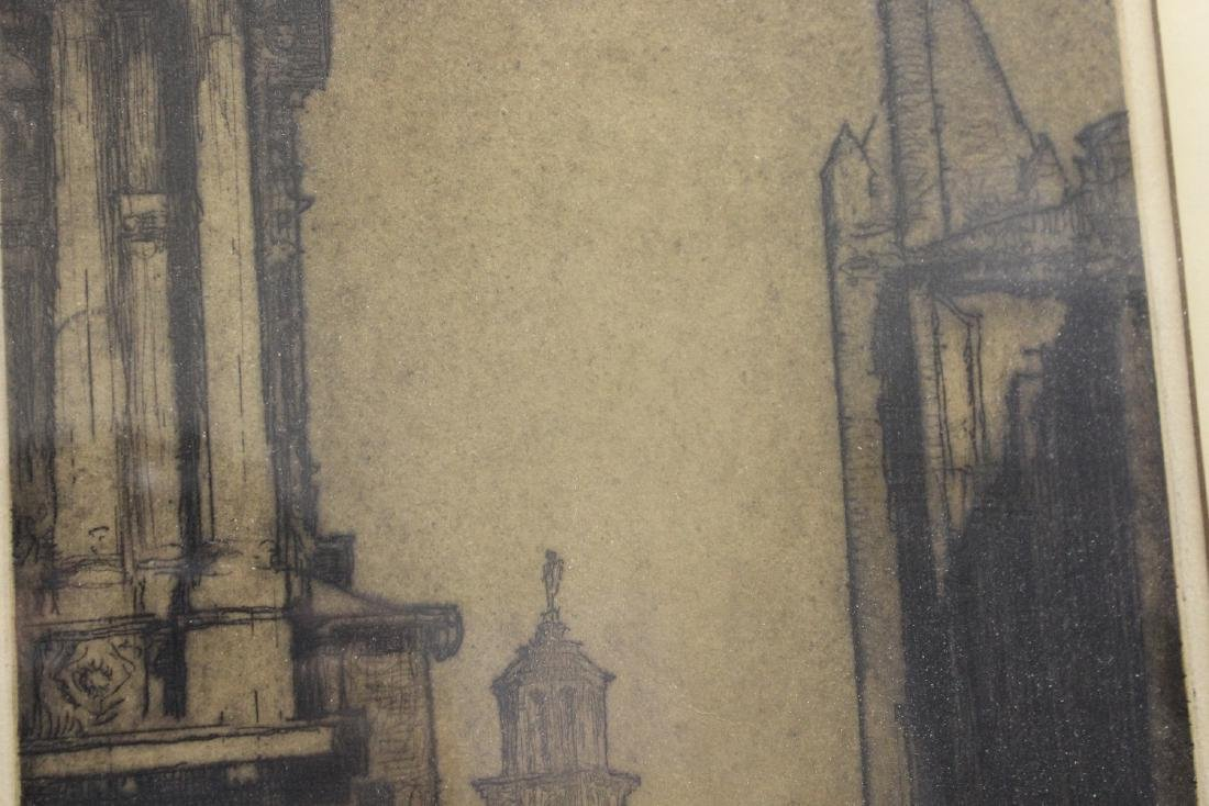 An Antique Signed Etching - 2