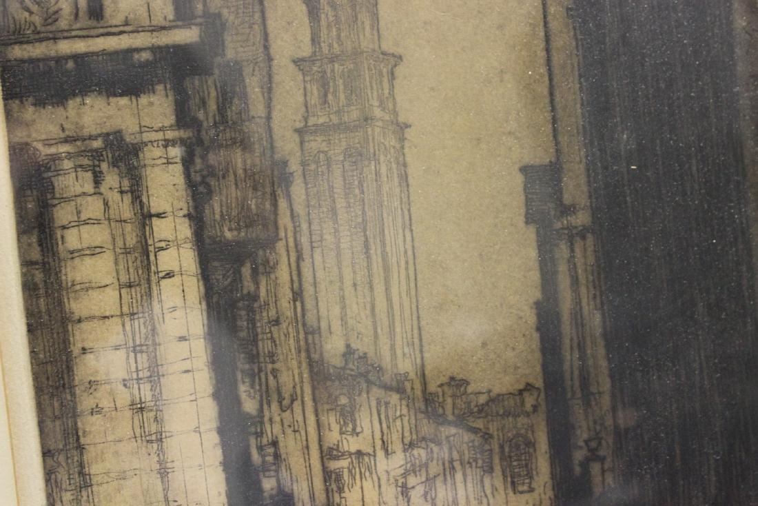 An Antique Signed Etching - 4