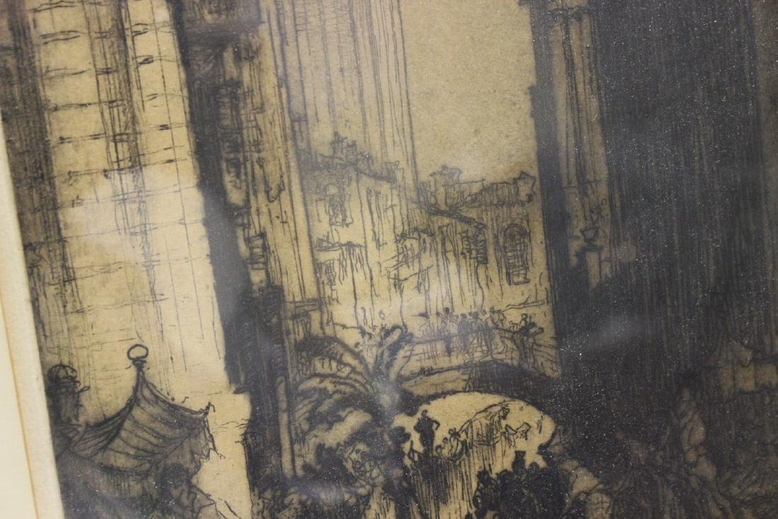 An Antique Signed Etching - 5