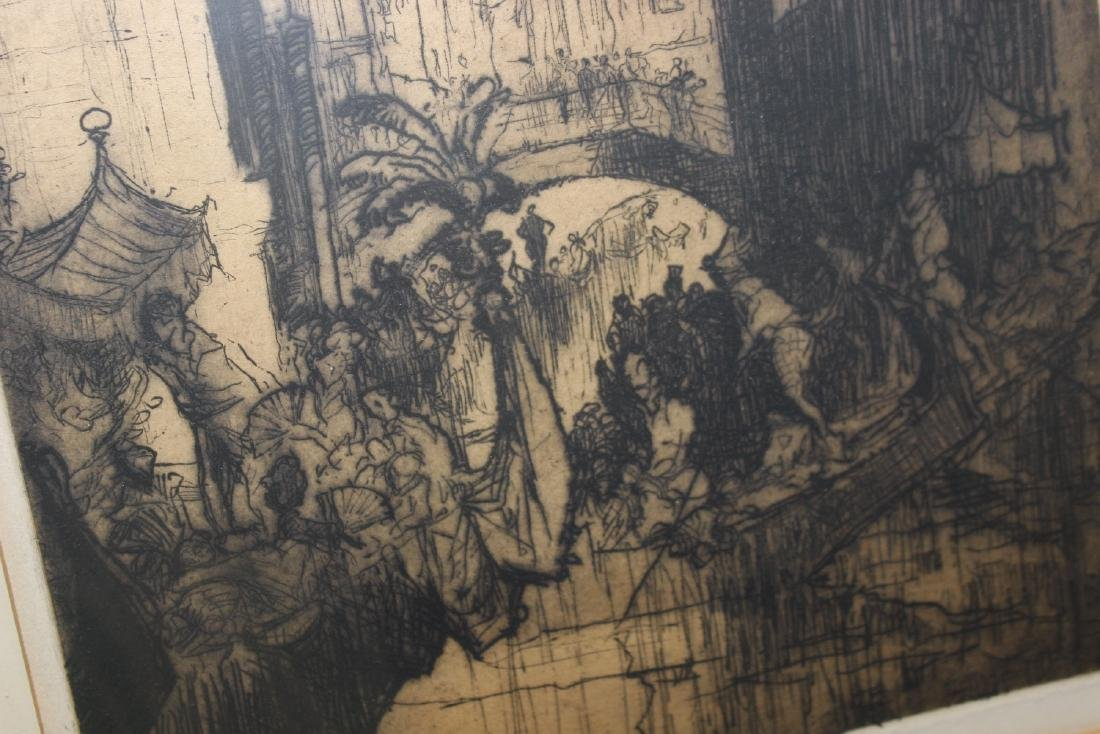 An Antique Signed Etching - 6