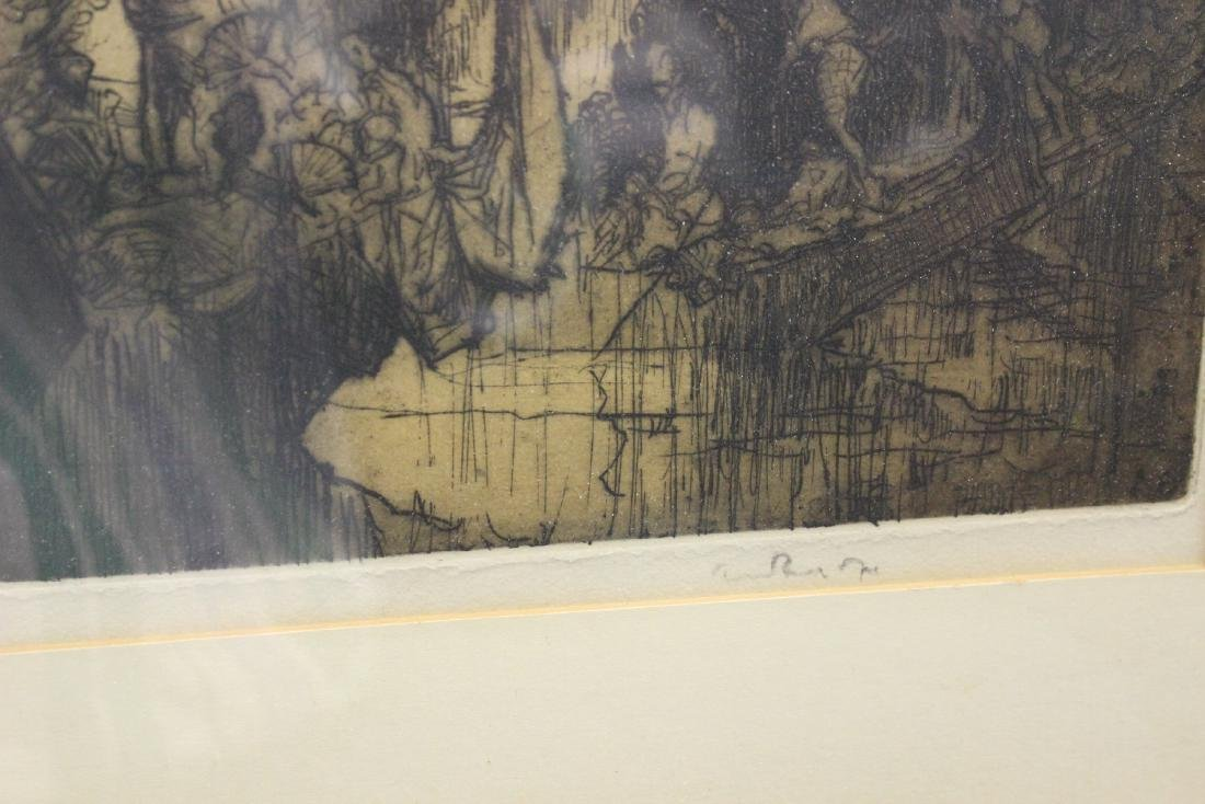 An Antique Signed Etching - 7