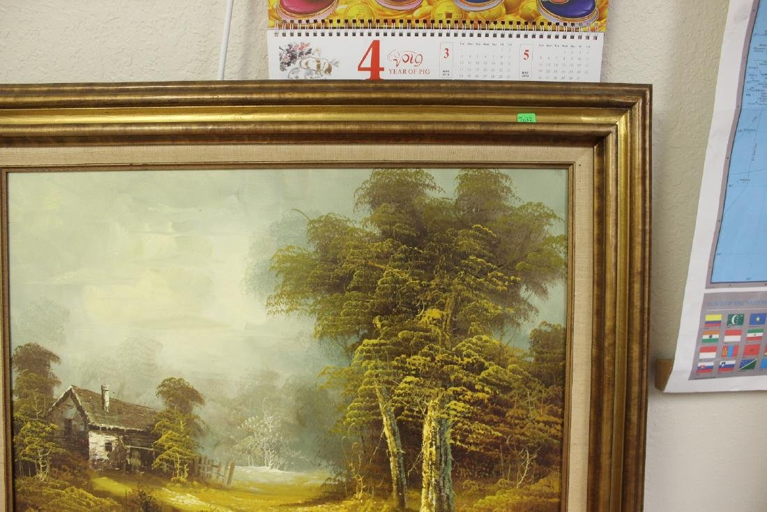 A Signed Vintage Oil on Canvas Painting - 4