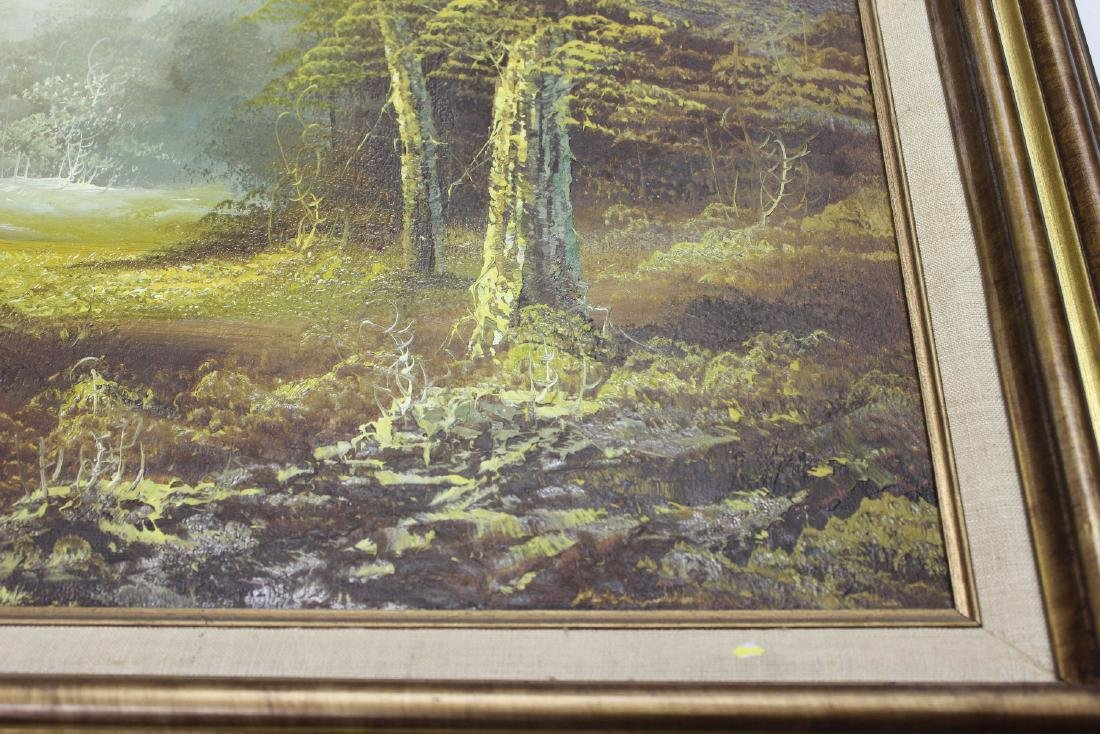 A Signed Vintage Oil on Canvas Painting - 5