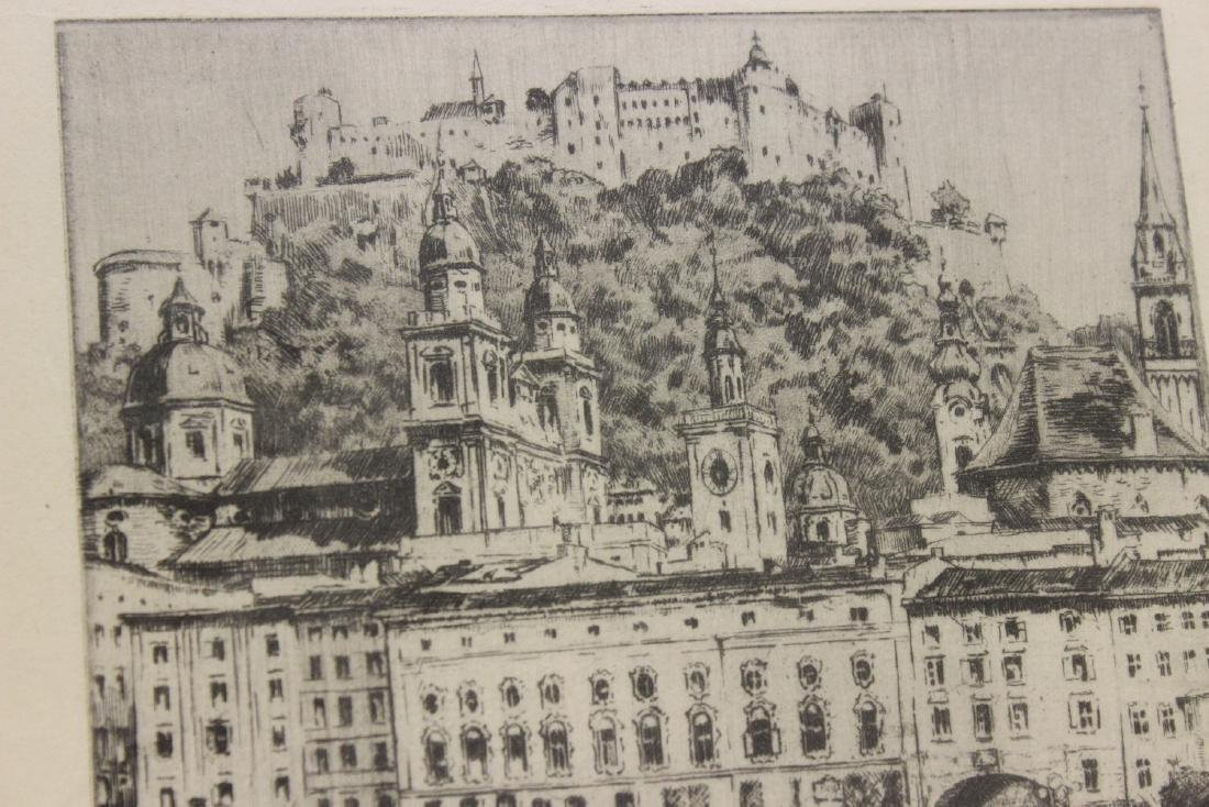 An Antique Etching by German Listed Artist Herman - 3