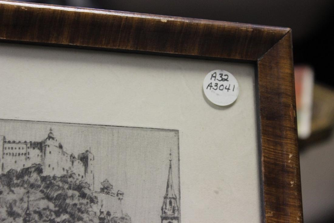 An Antique Etching by German Listed Artist Herman - 9
