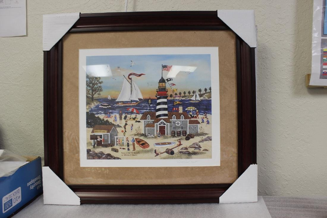 A Framed Litograph by Listed Artist Wooster Scott