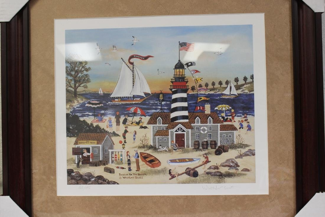A Framed Litograph by Listed Artist Wooster Scott - 2