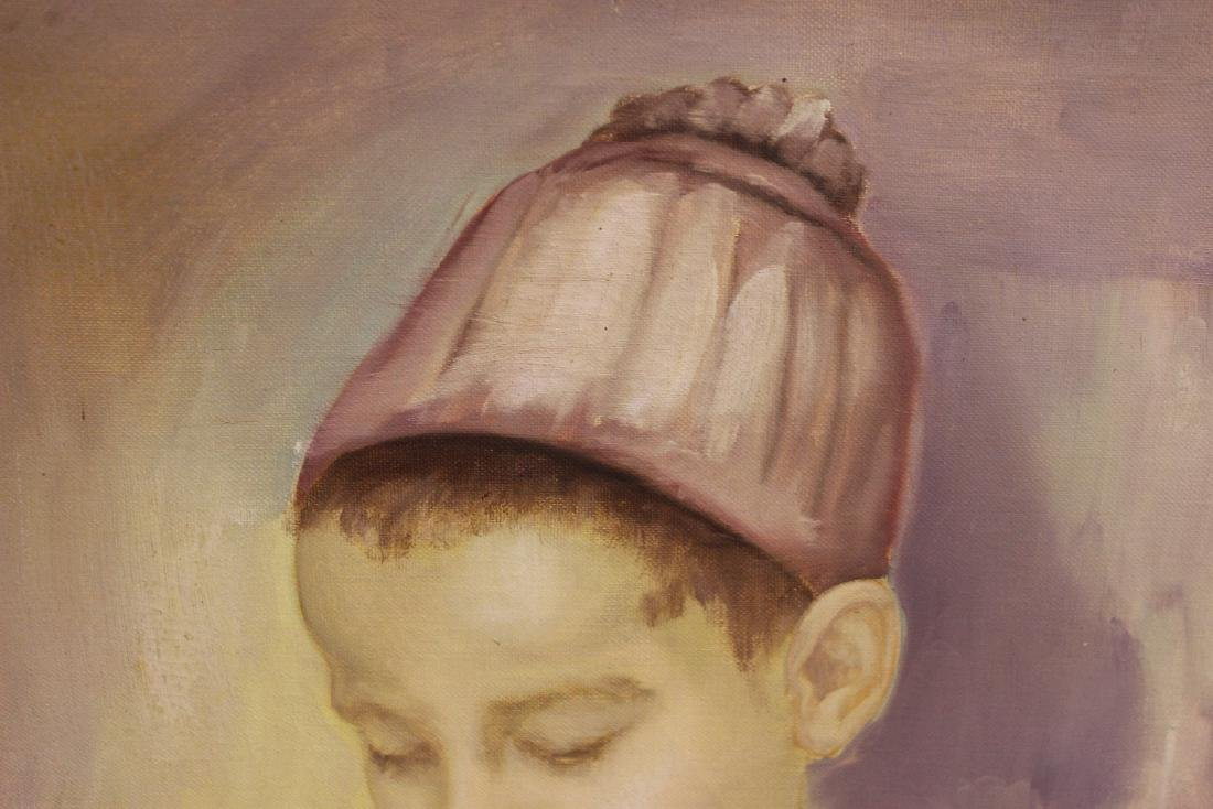 An Oil on Canvas of a Boy - 2