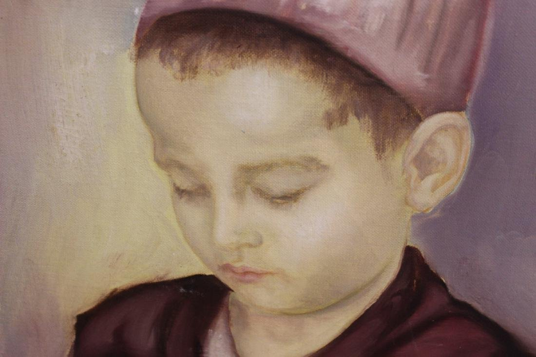 An Oil on Canvas of a Boy - 3