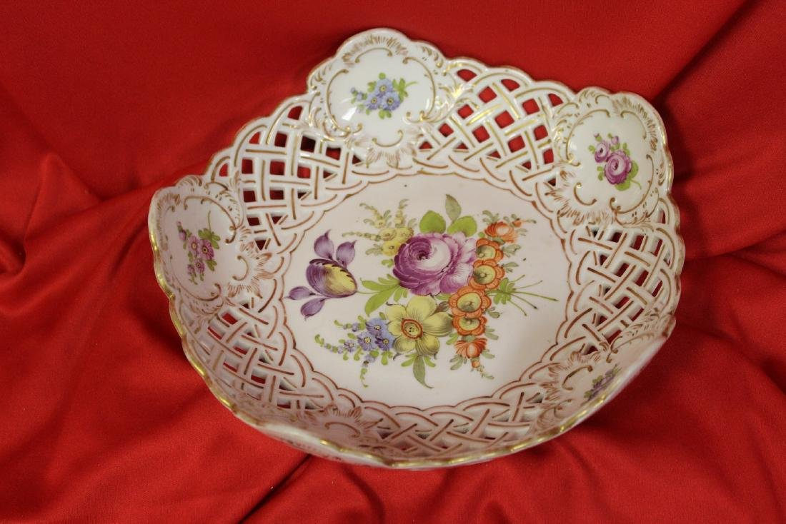 A Dresden Reticulated Bowl - 10