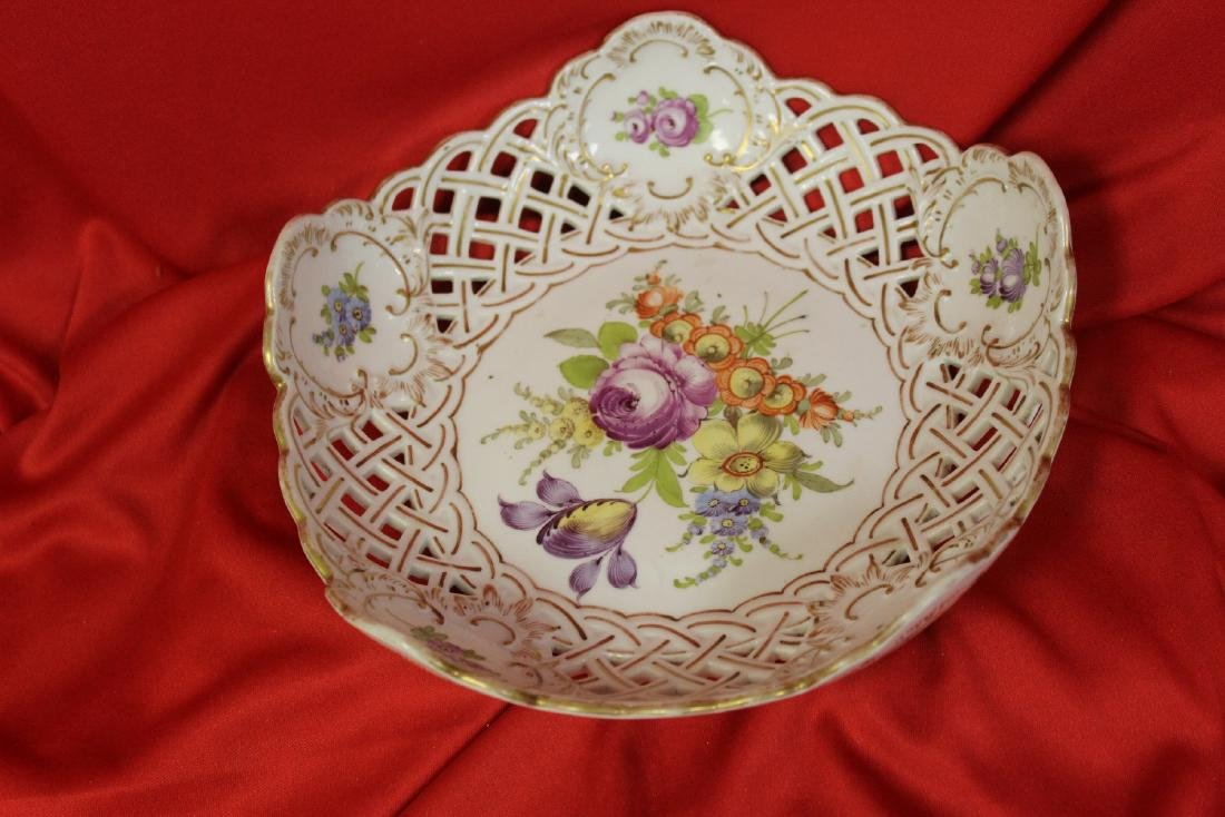 A Dresden Reticulated Bowl