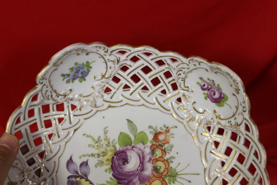 A Dresden Reticulated Bowl - 3