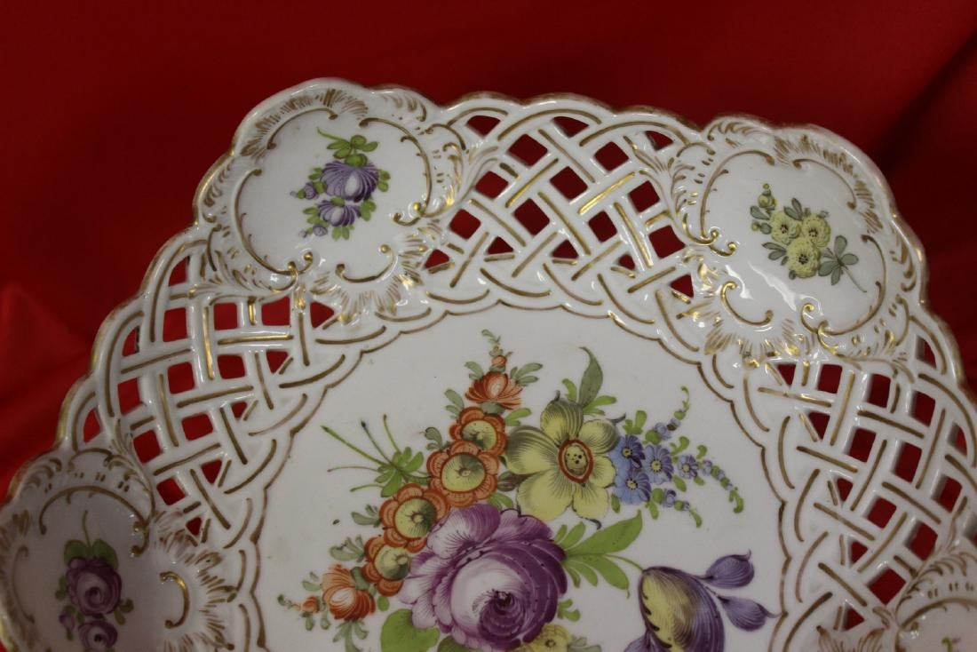 A Dresden Reticulated Bowl - 4