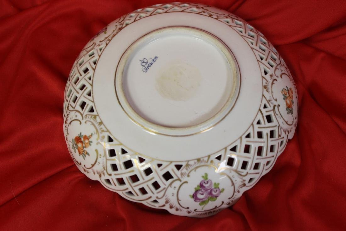 A Dresden Reticulated Bowl - 5