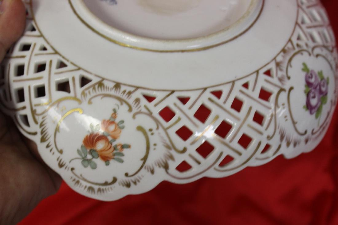 A Dresden Reticulated Bowl - 6