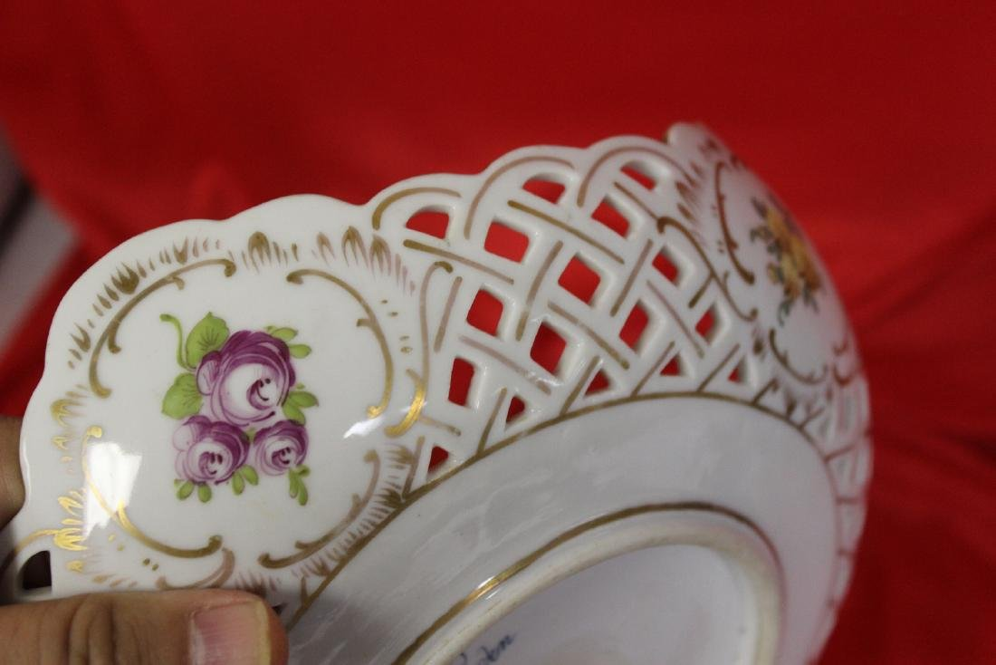 A Dresden Reticulated Bowl - 7