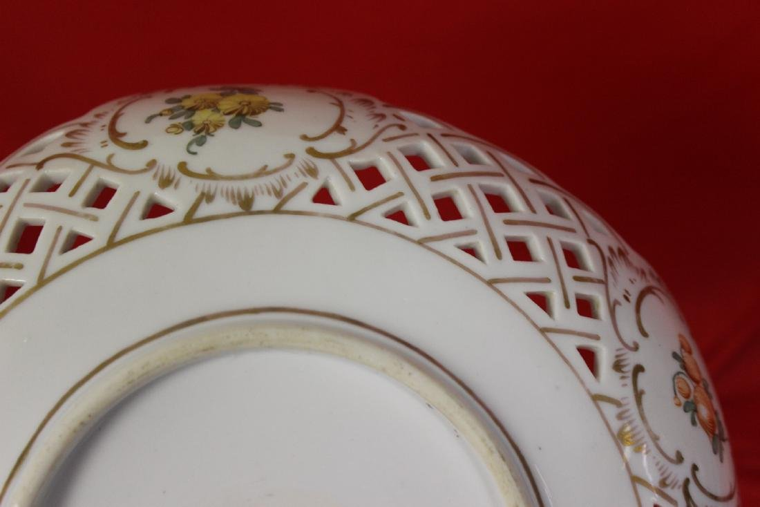 A Dresden Reticulated Bowl - 8