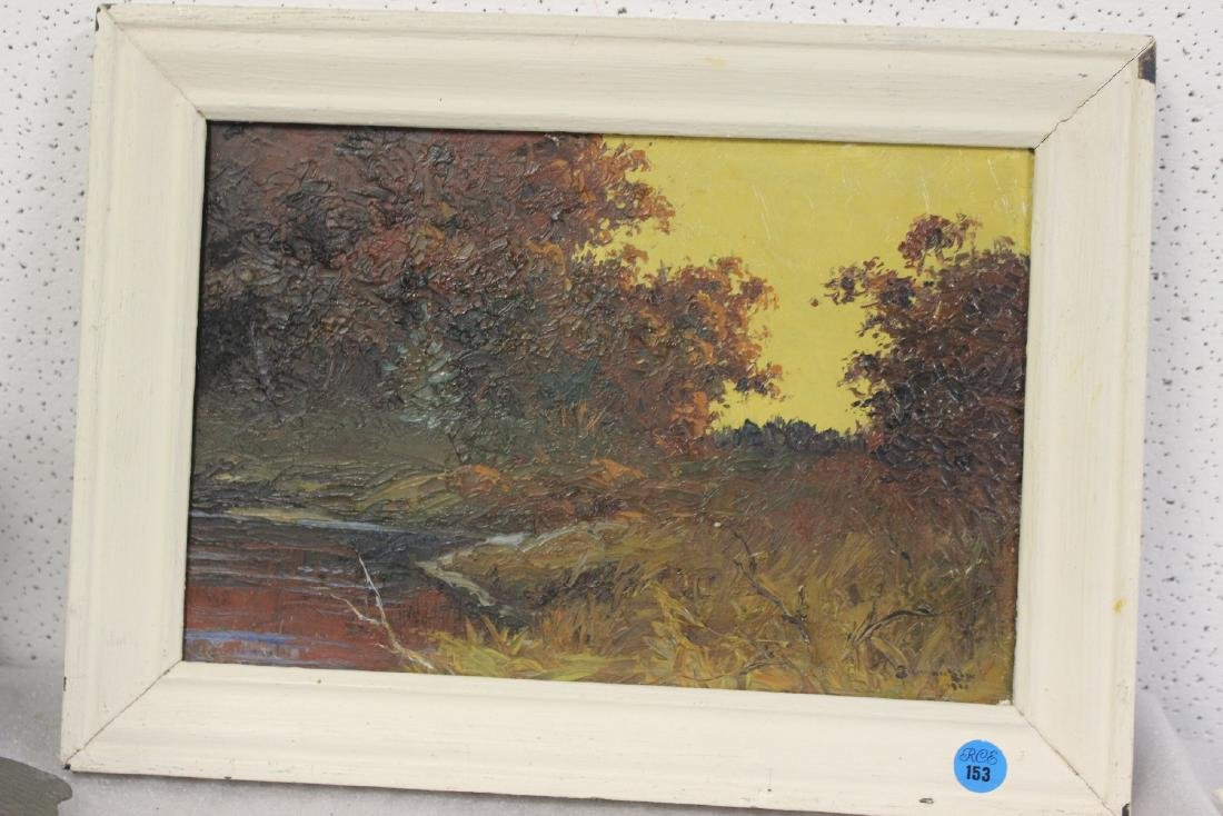 An Oil on Board by Listed Artist Gilman Low
