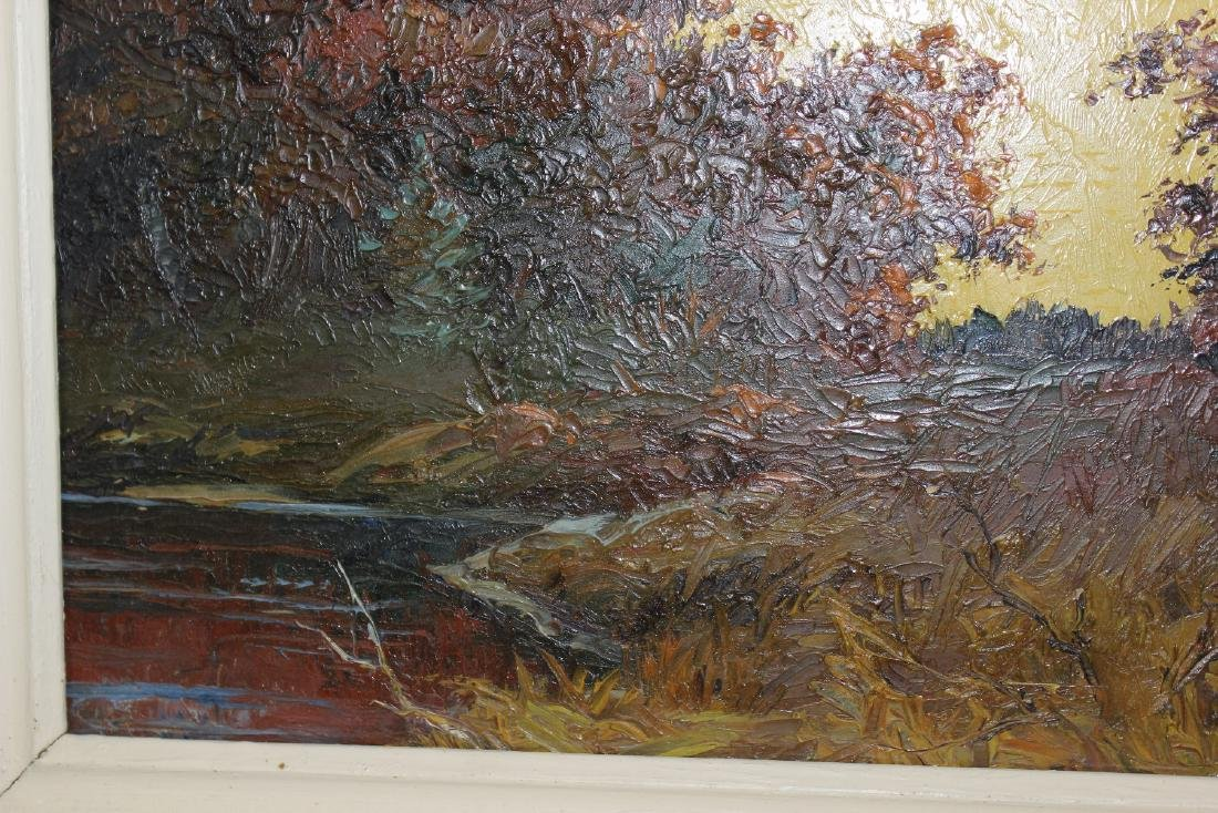 An Oil on Board by Listed Artist Gilman Low - 2