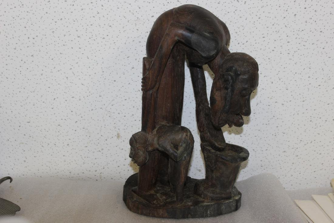 A Vintage Exotic Wood African Statue