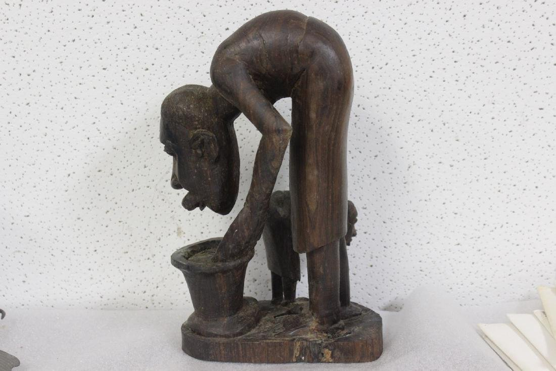 A Vintage Exotic Wood African Statue - 2