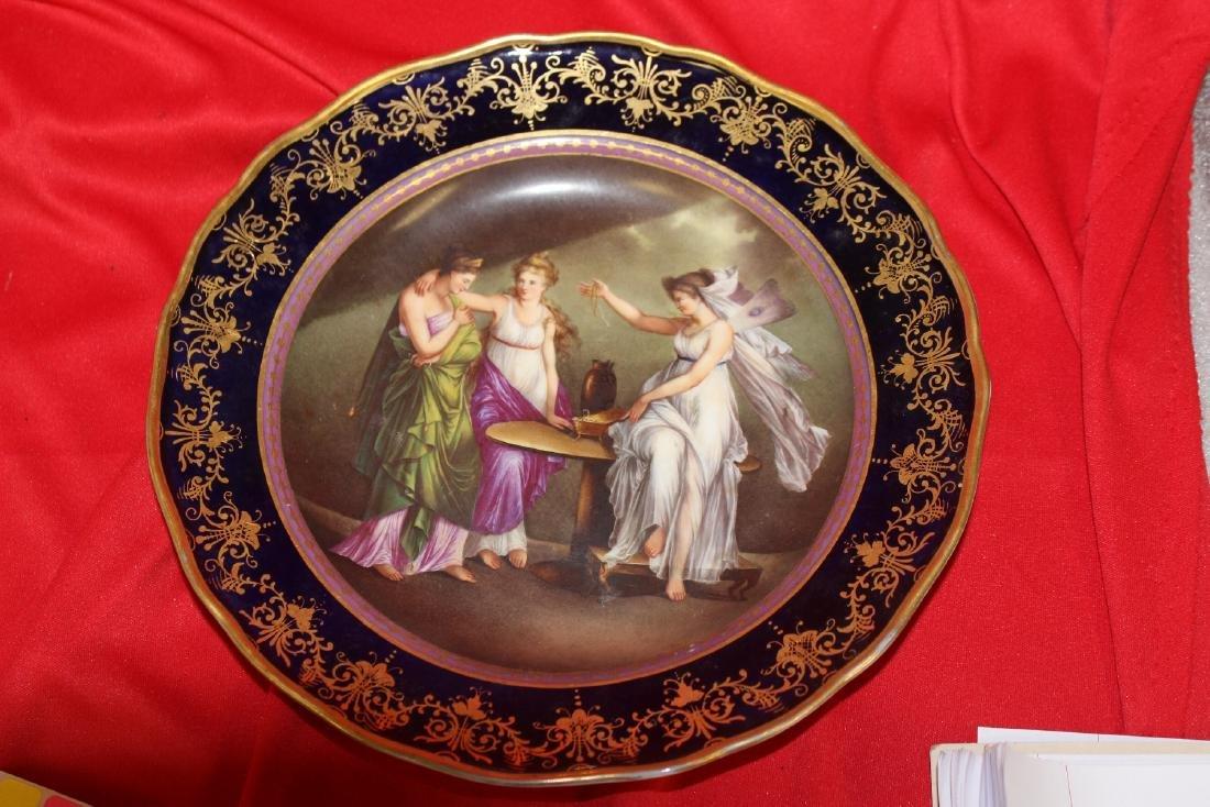 An Important Meissen Cobalt Blue Cabinet Plate