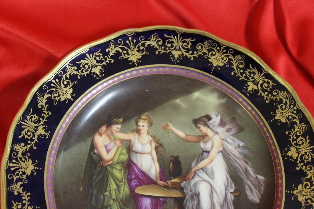 An Important Meissen Cobalt Blue Cabinet Plate - 2